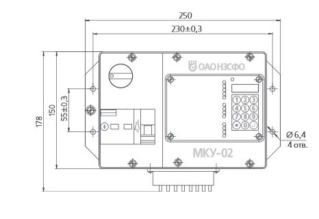 Габаритный размеры Модуля МКУ-