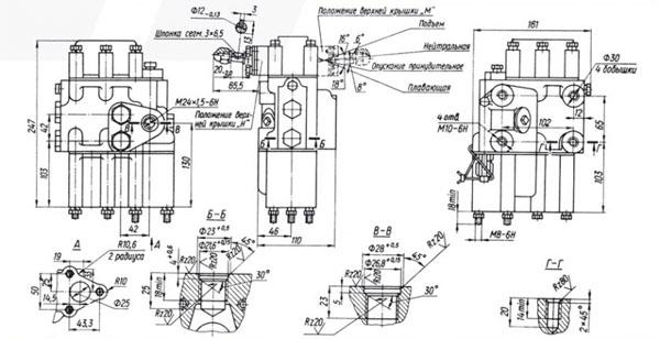 Схема габаритов Р80-3/1-44