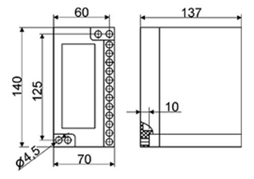 Рис. 1 Схема размеров реле