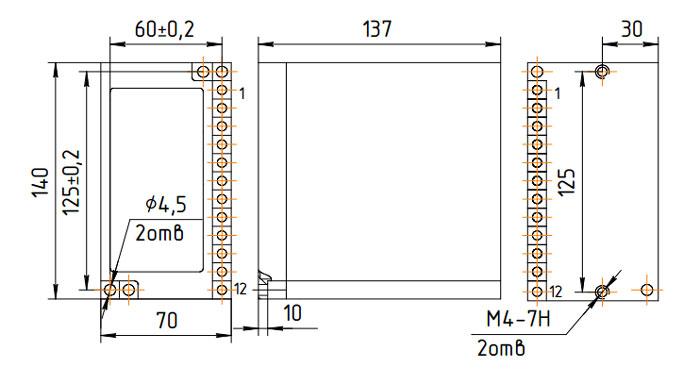 Схема размеров ВЛ-108