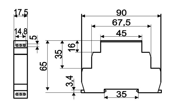 Схема габаритов реле ВЛ-164
