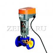 Клапаны регулирующие фланцевые с электроприводом арт. 227 ZETKAMA - фото