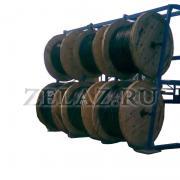 Система стеллажей для кабельных барабанов - фото