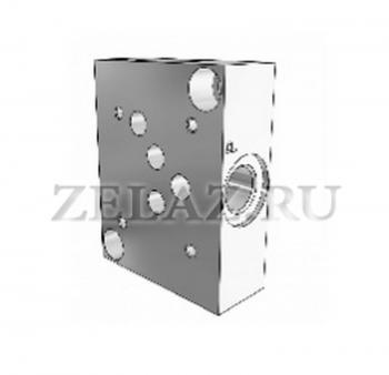 Плита гидравлическая одноместная отверстия сбоку SPS DN10 3/8 фото 1