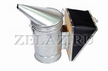 Дымарь пасечный из оцинкованной стали со съемным мехом - фото