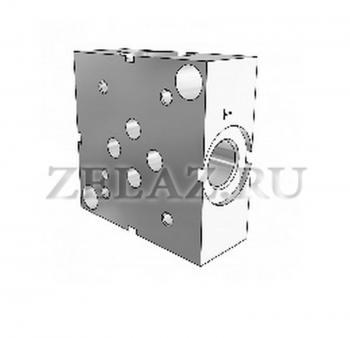 Плита гидравлическая одноместная отверстия сбоку SPS DN06 3/8 фото 1