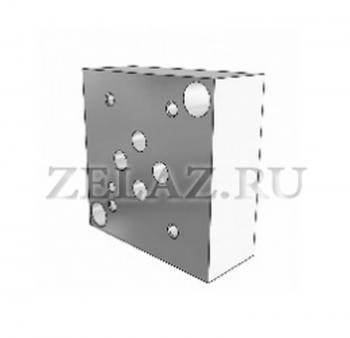 Плита гидравлическая одноместная отверстия снизу SPВ DN06 1/4 фото 1