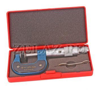 Микрометр зубомерный типа МЗ-25 -0,1 - комплектность